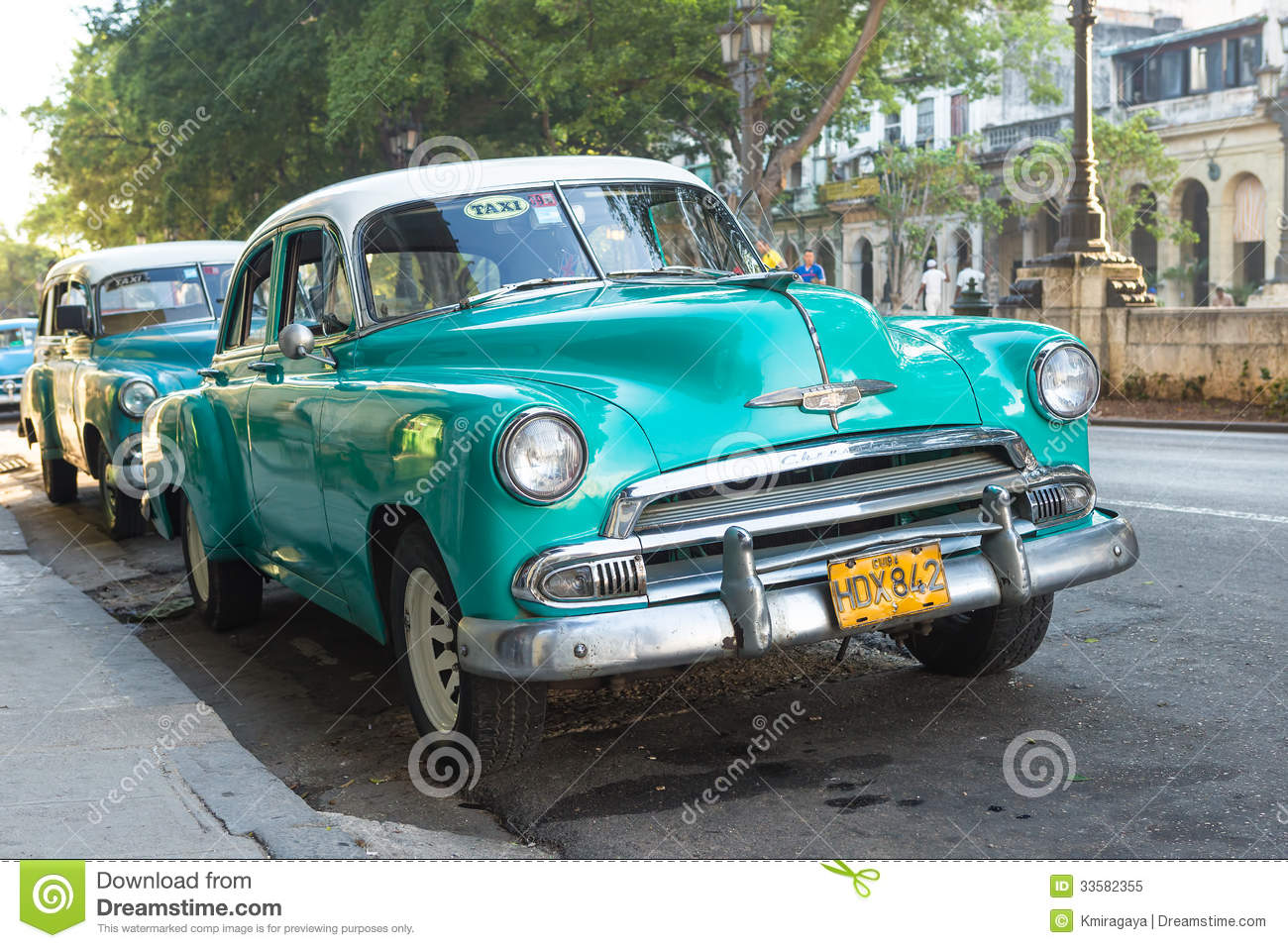 Old american car in a famous street in havana editorial for Old american cars