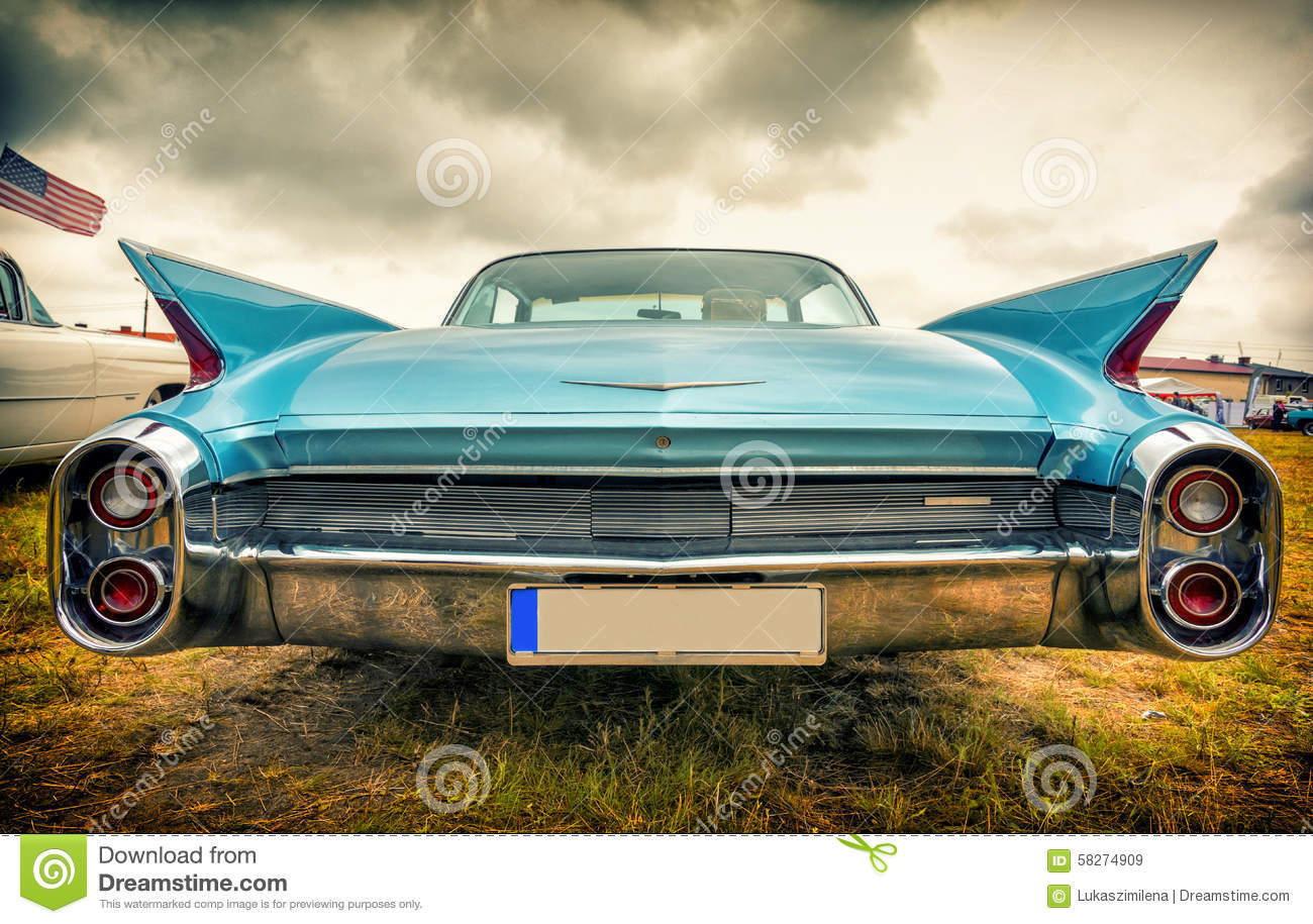 Old American Car In Vintage Style Stock Image - Image of shiny ...