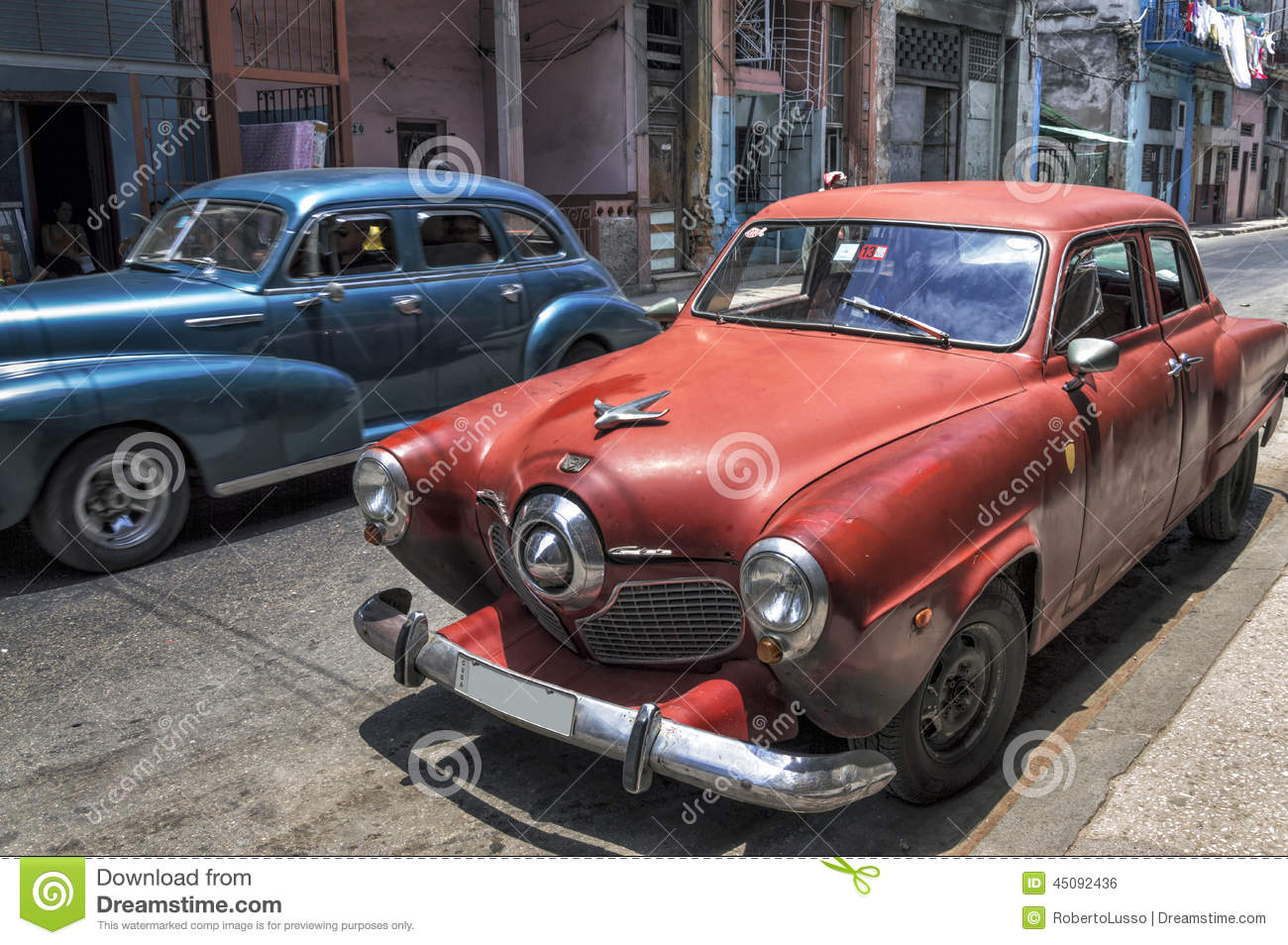 Old american cars in old havana cuba editorial photo for Old american cars
