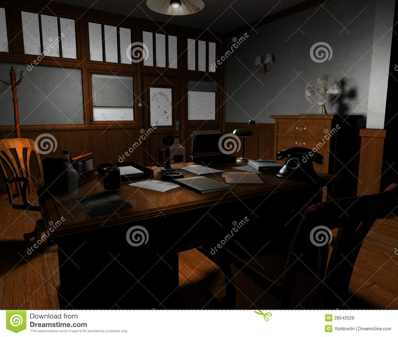old american detective agency royalty free stock images