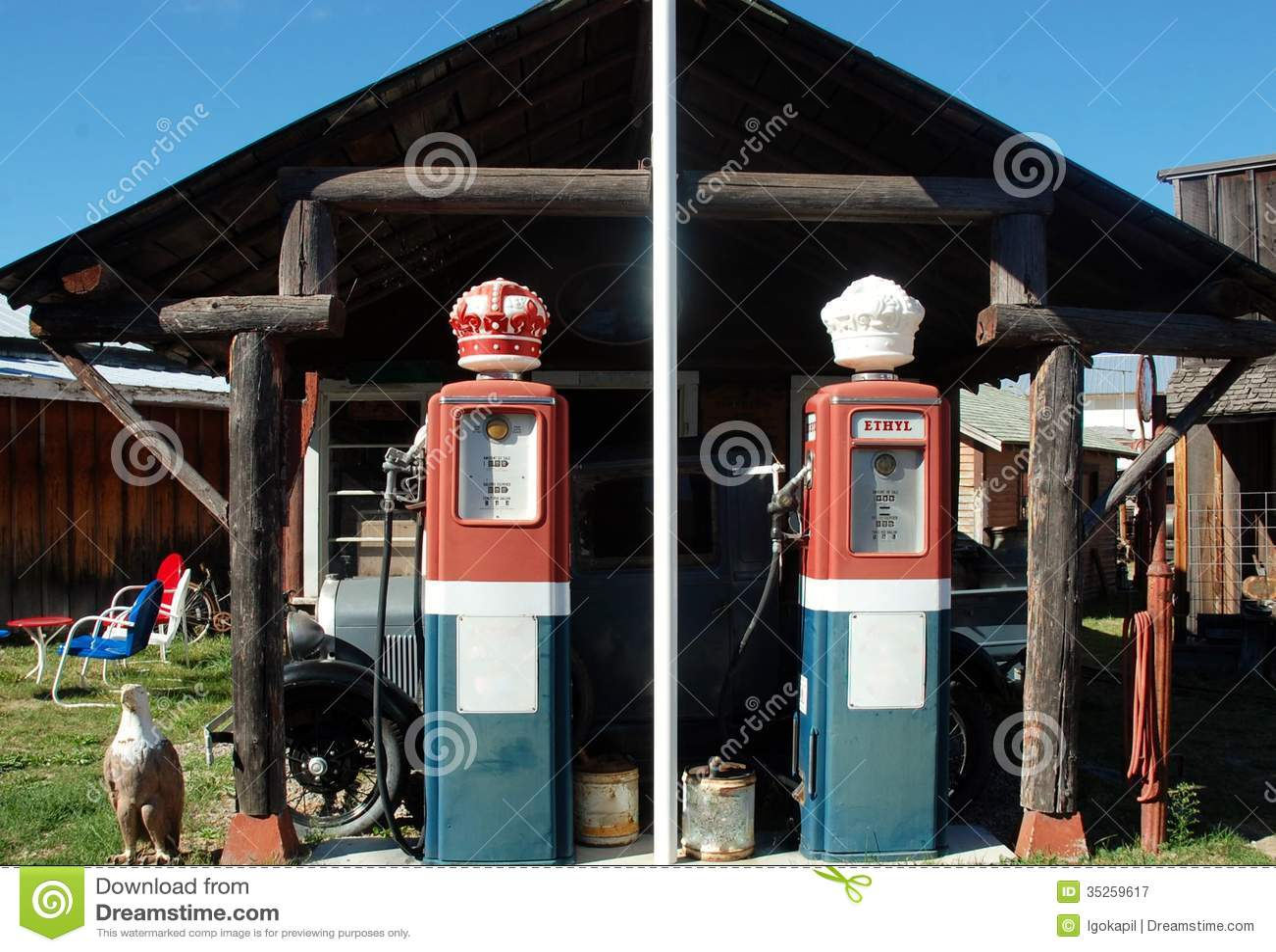 montana state retro gas station stock image image 35259617