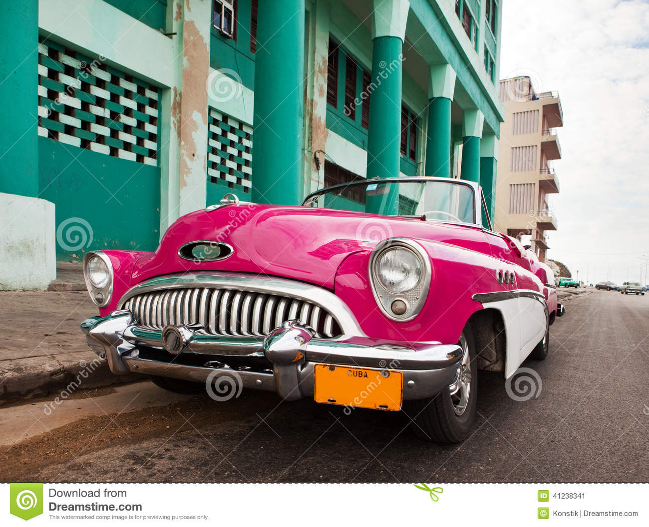 old american retro car 50th years of the last century an iconic sight in the city on the. Black Bedroom Furniture Sets. Home Design Ideas