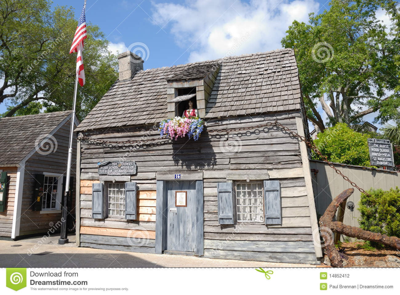 Old american school house stock photo image of patriotic for Old american houses