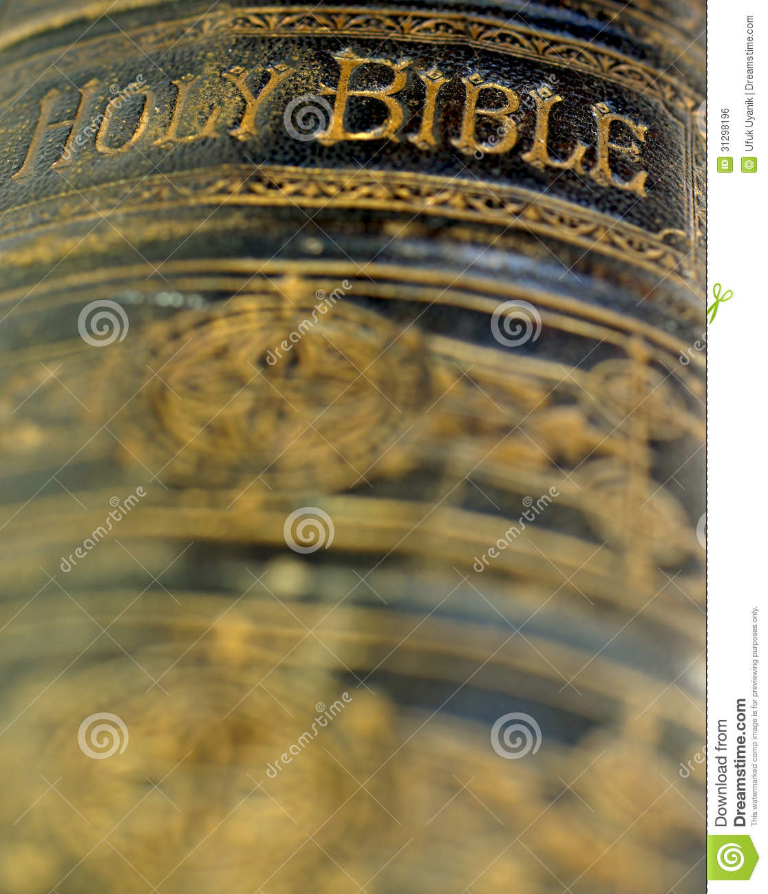 Vintage Leather Look Jeremiah Verse Bible Book Cover Large: Old Ancient Bible Royalty Free Stock Image
