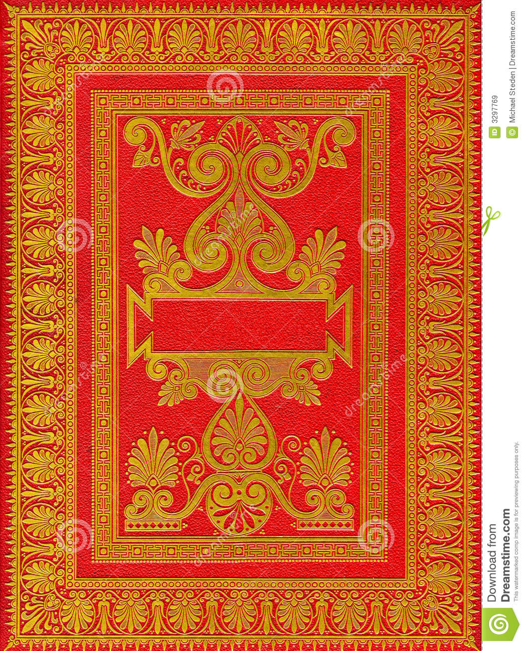 Old Red Book Cover ~ Old ancient red book cover stock illustration image of