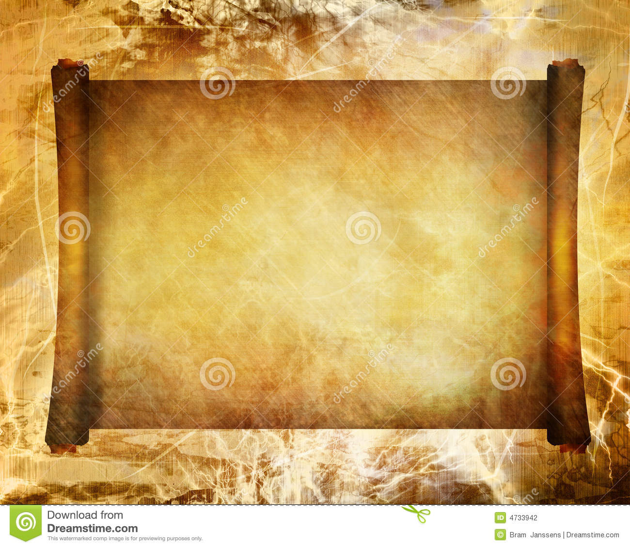 Old Ancient Scroll Stock Photography Image 4733942