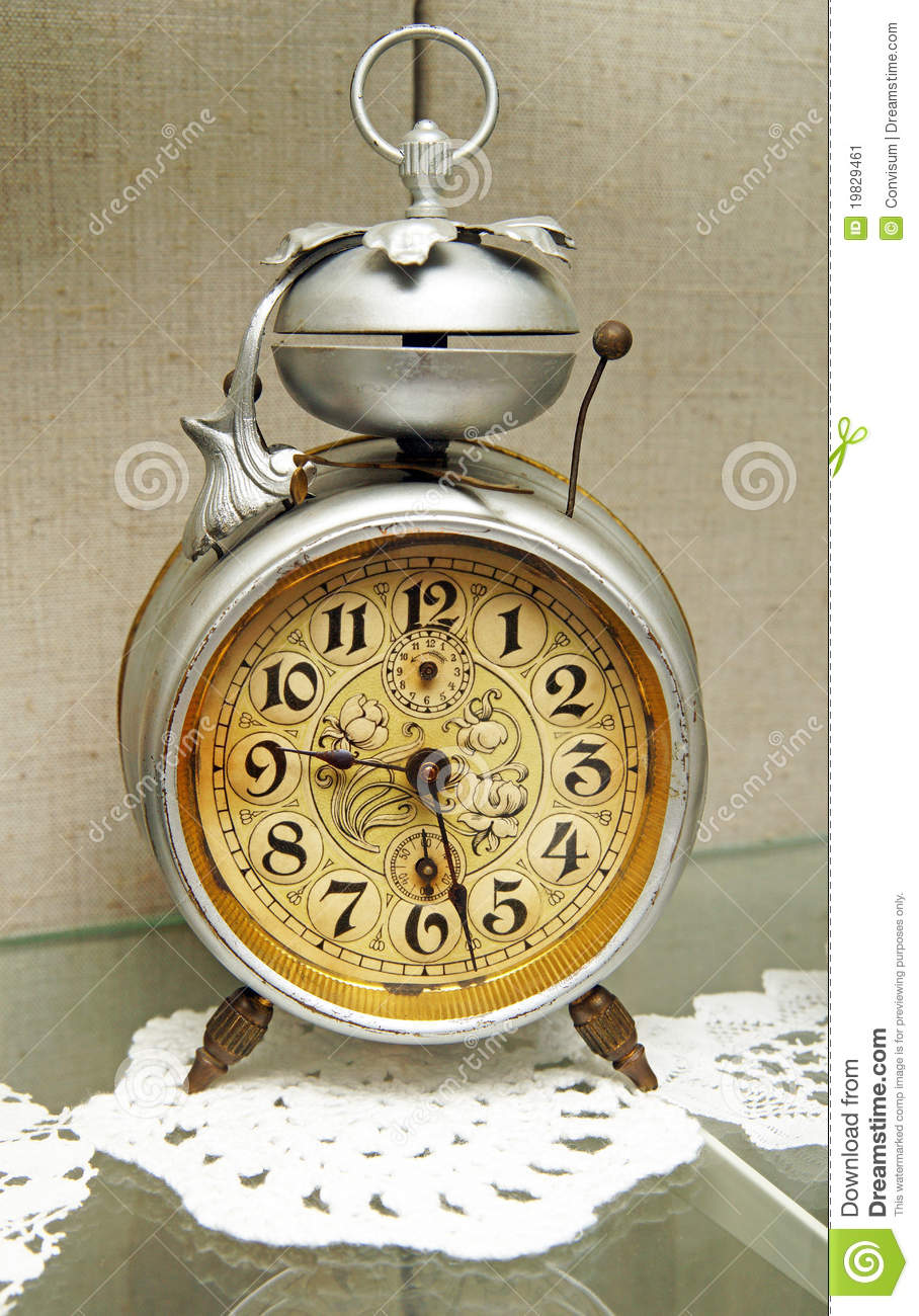 Old Antique Alarm Clock Stock Image Image 19829461