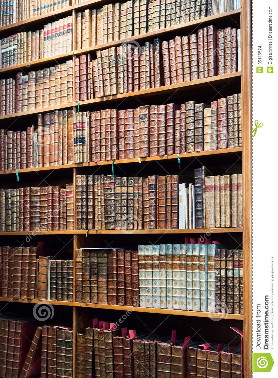 Old Antique Books Stock Photo Image Of Library Antique