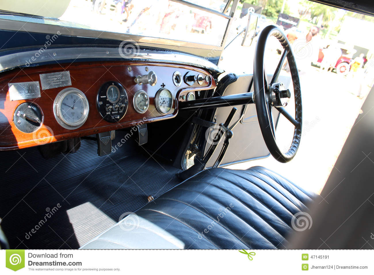 old antique car interior editorial photo image of cockpit 47145191. Black Bedroom Furniture Sets. Home Design Ideas