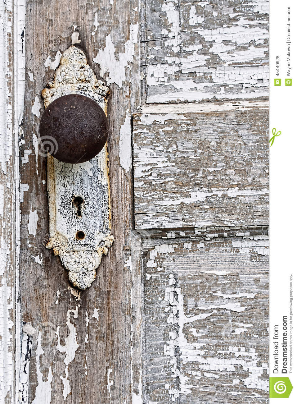 Download Old Antique Door Knob And Pealing White Paint Background Stock  Photo   Image Of Faded