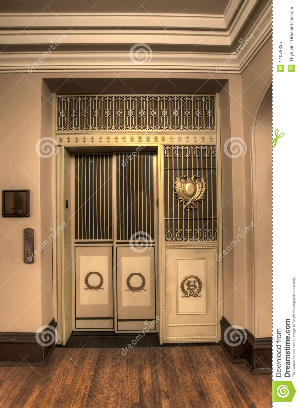 Old Antique Elevator Stock Image Image Of Portland