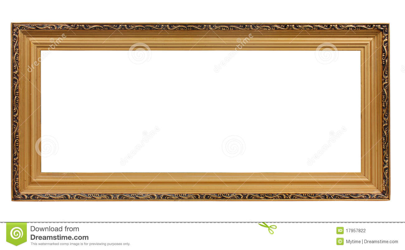 Old antique gold frame stock photo. Image of custom, portrait - 17957822