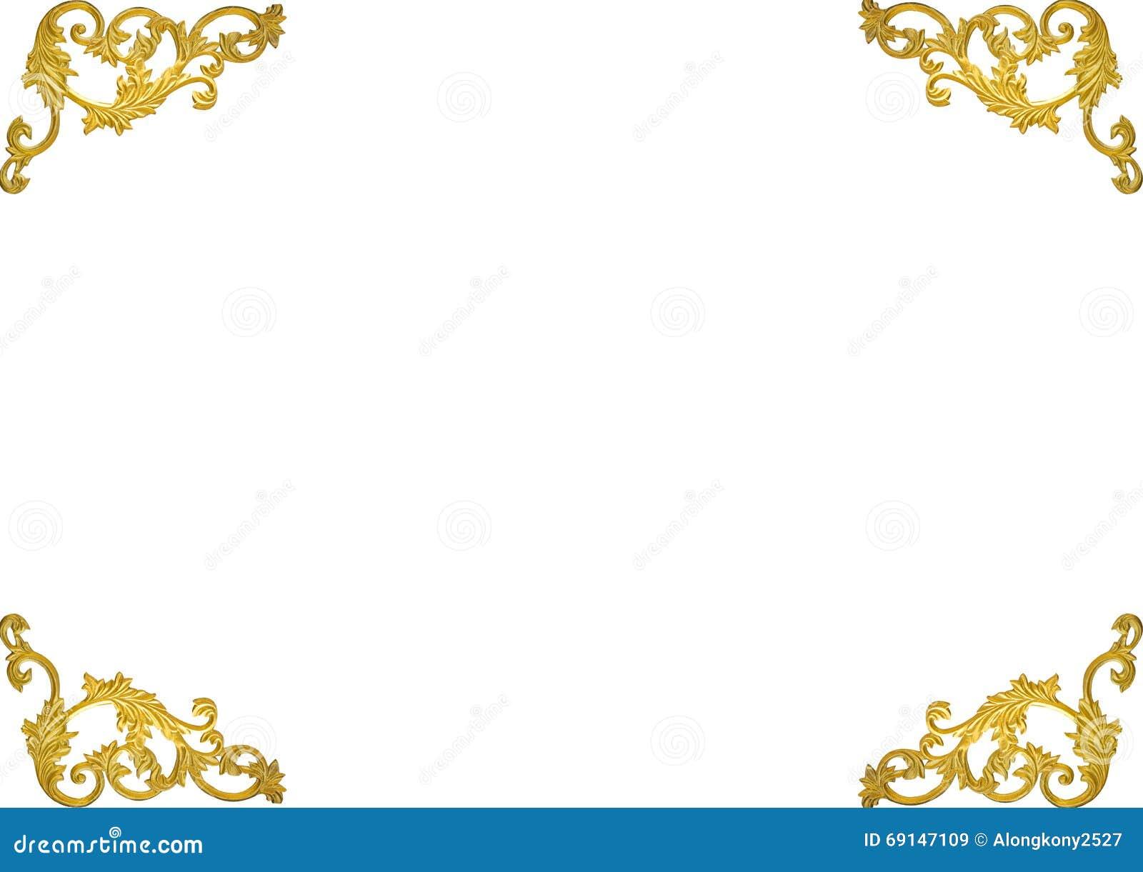 a309ce380a44 Old antique gold frame Stucco walls greek culture roman vintage style  pattern line design for border