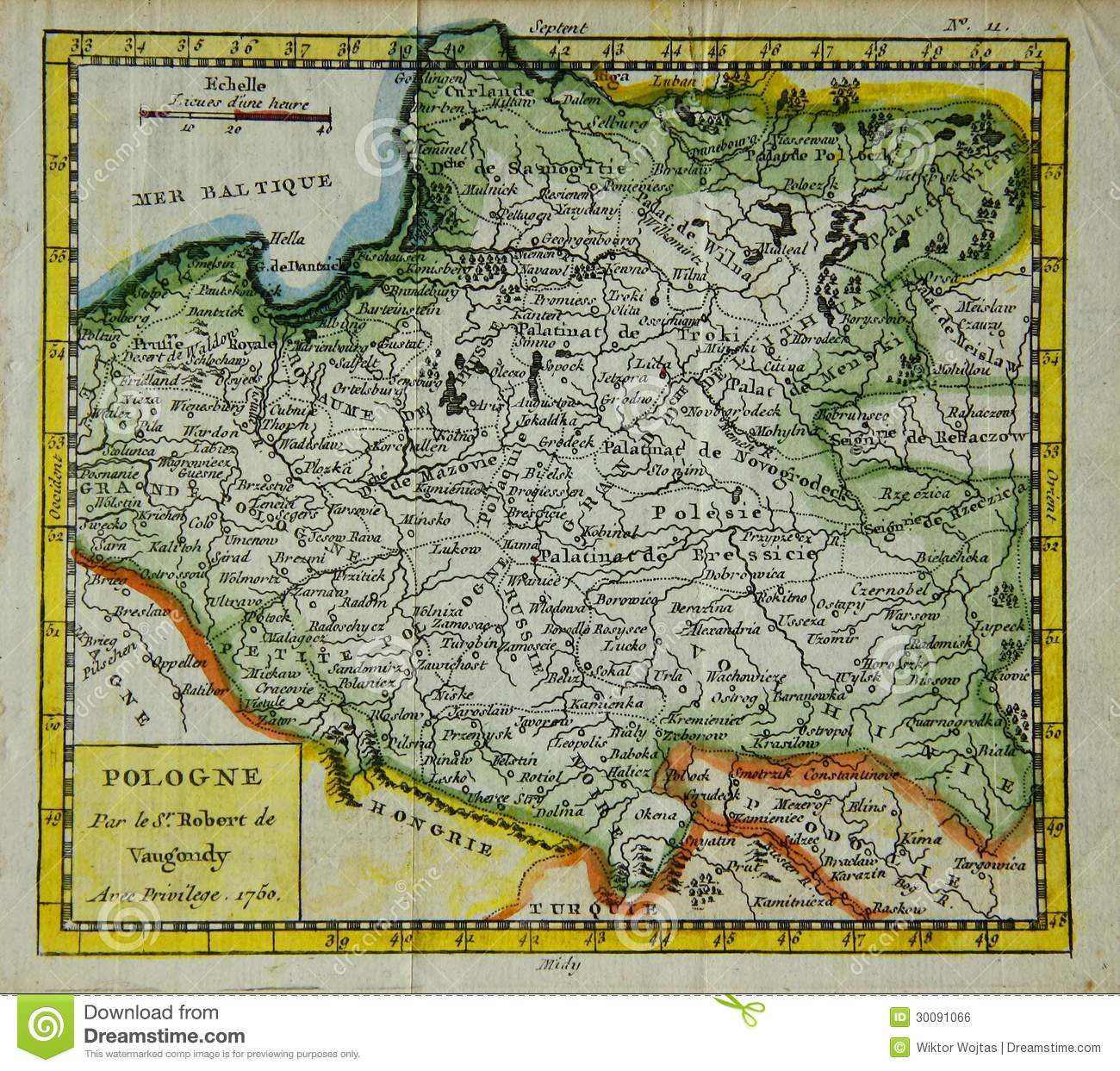 Old Map Of Poland Stock Photo Image Of Publication History 30091066