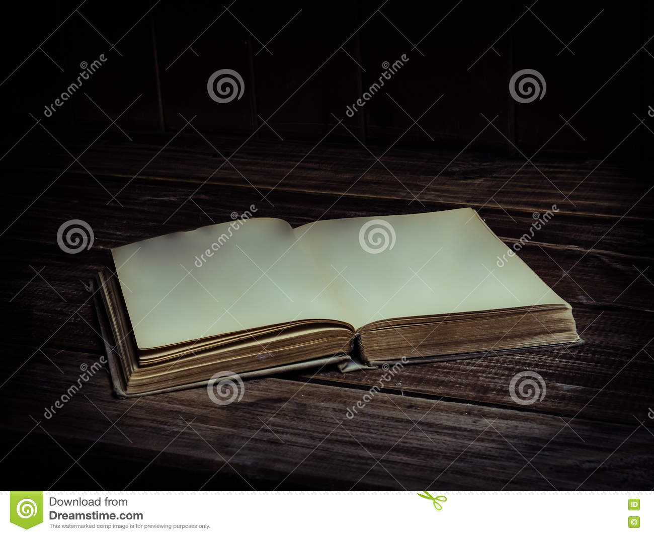 Blank pages to color on - Old Antique Opened Book With Blank Pages On A Wooden Table