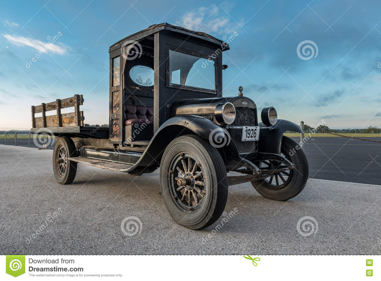 Old Antique Truck with Wood Bed