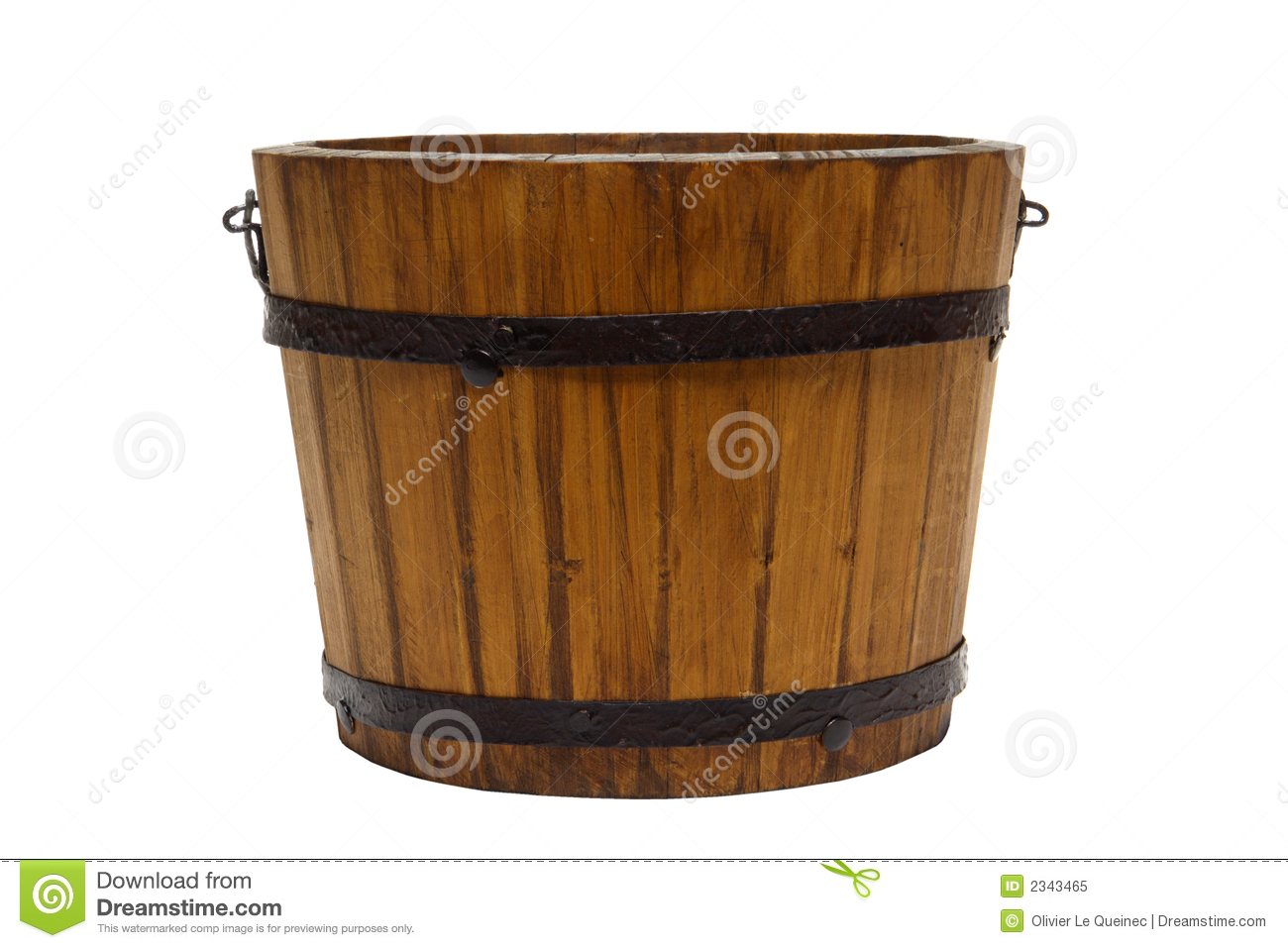 Old Antique Wood Water Bucket Isolated Royalty Free Stock ...