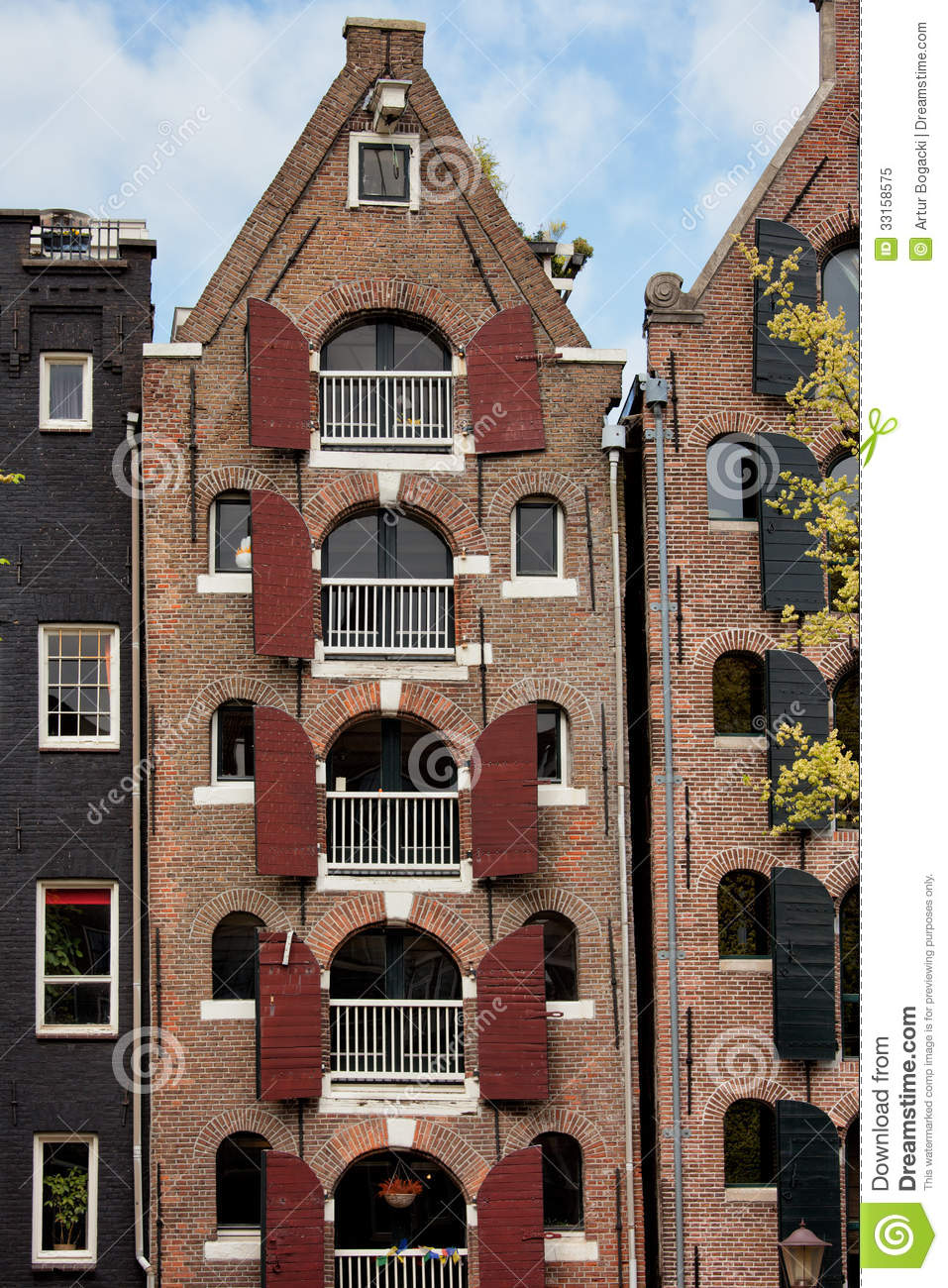 Old Apartment Building In Amsterdam Stock Image   Image Of Dutch, Facade:  33158575
