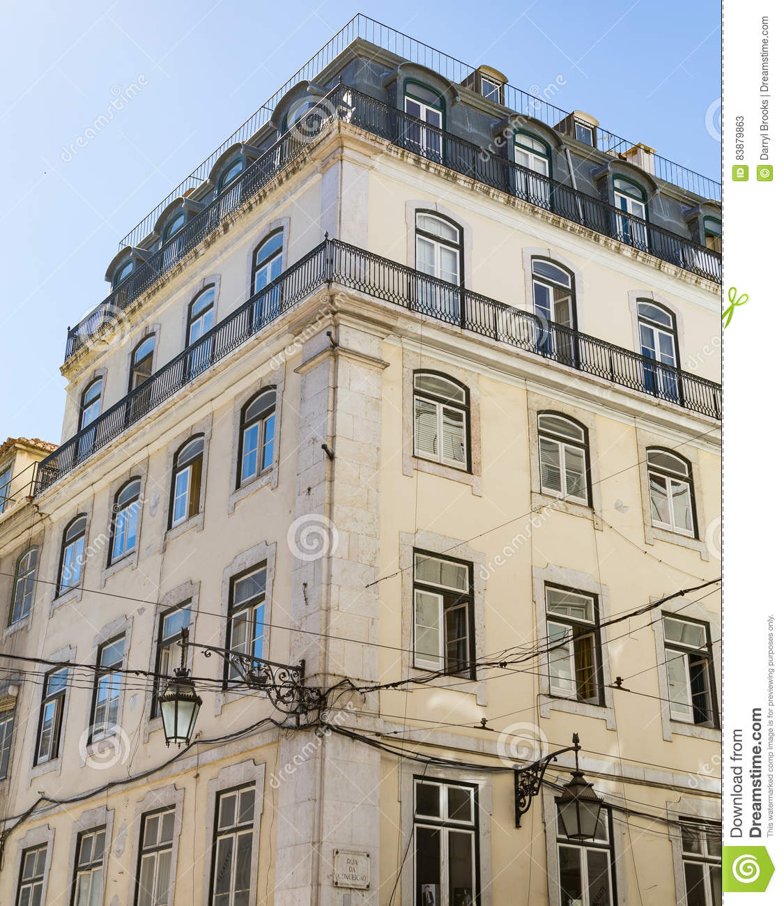 Old Apartment Building: Old Apartment Building In Lisbon Stock Image