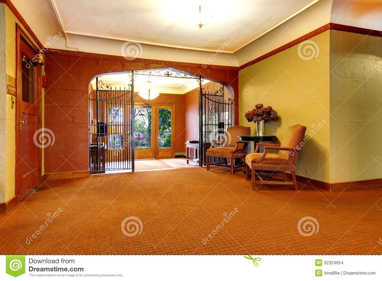 Apartment Building Foyer : Old apartment building main foyer front door entrance