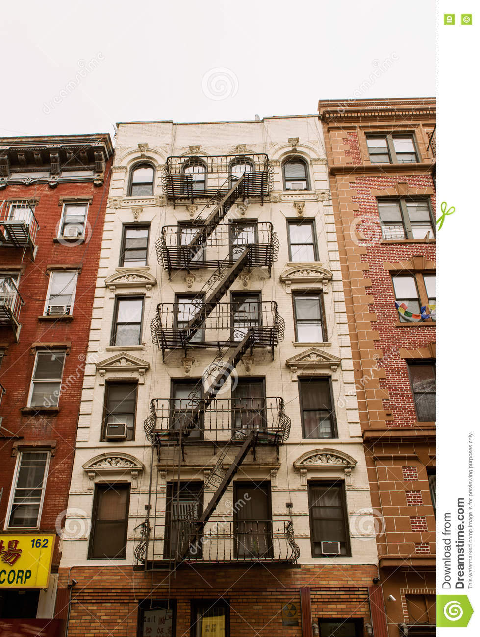 Old Apartment Building Of New York City Editorial Photo