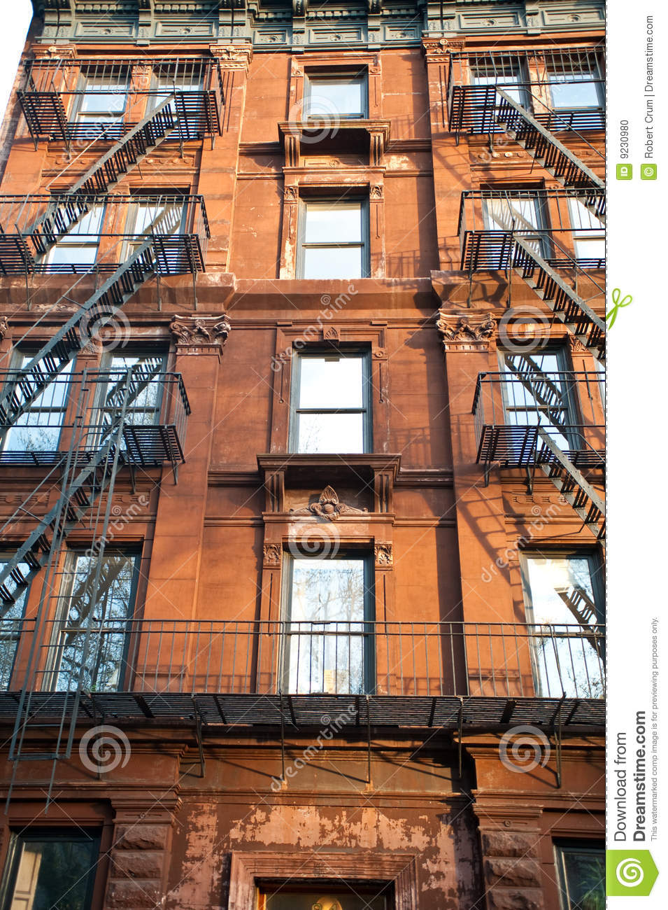 Old Apartment Buildings Stock Photo - Image: 9230980
