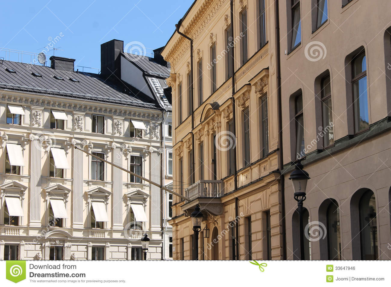 Old Apartment Buildings In City Royalty Free Stock Image - Image ...