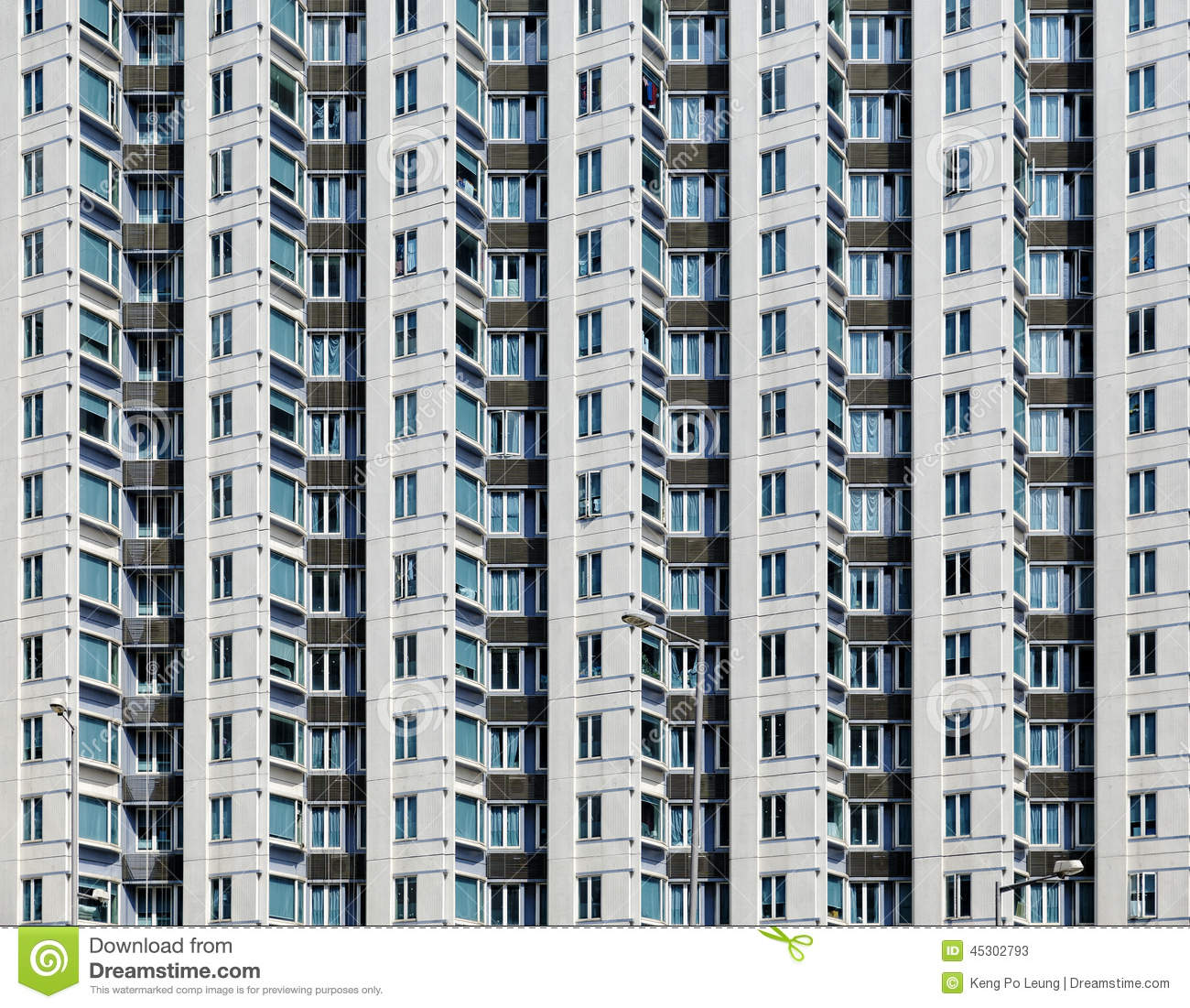 Old Apartment: Old Apartments In Hong Kong Stock Image