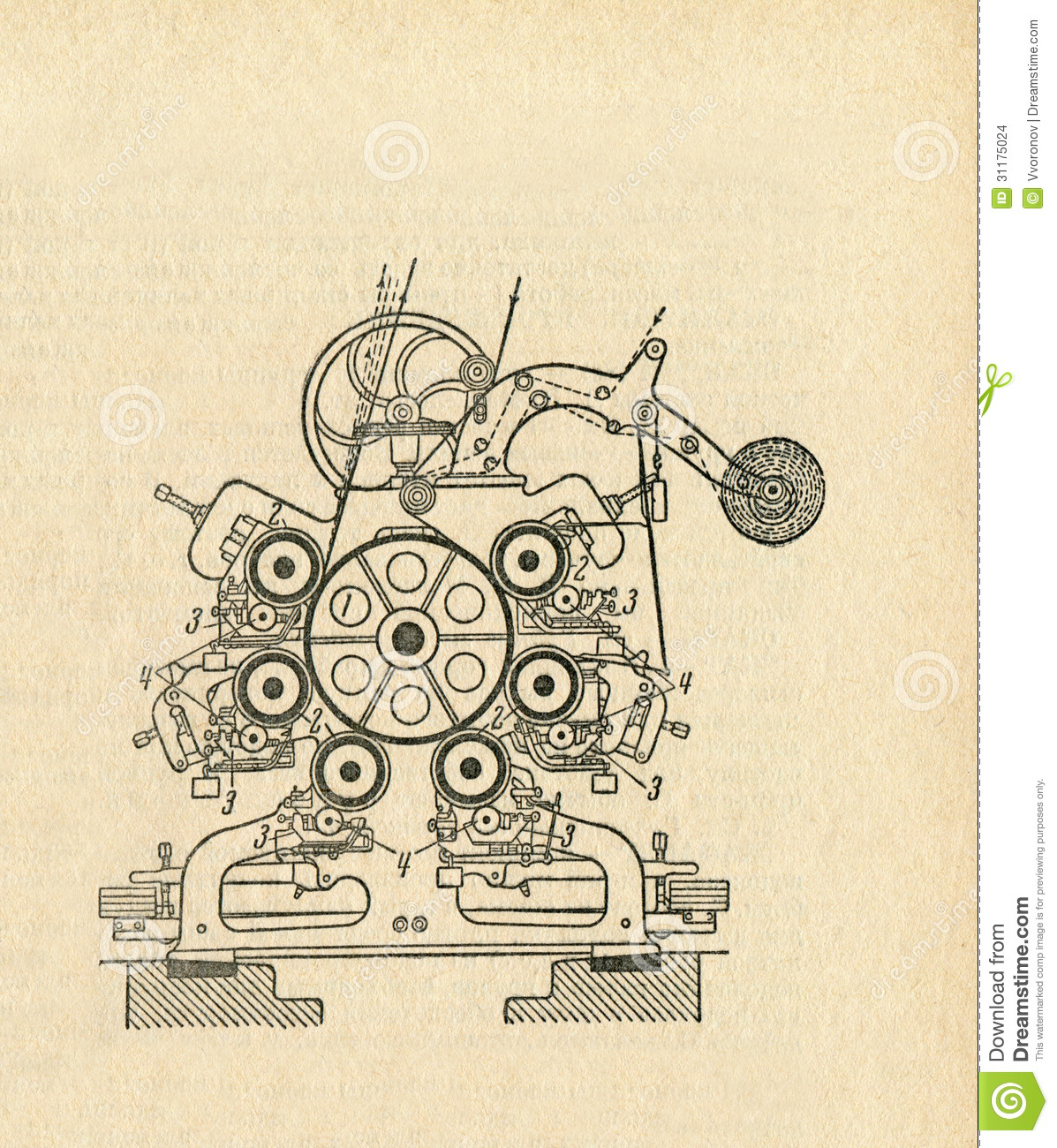 Old Apparatus Diagram Stock Illustration  Illustration Of Design
