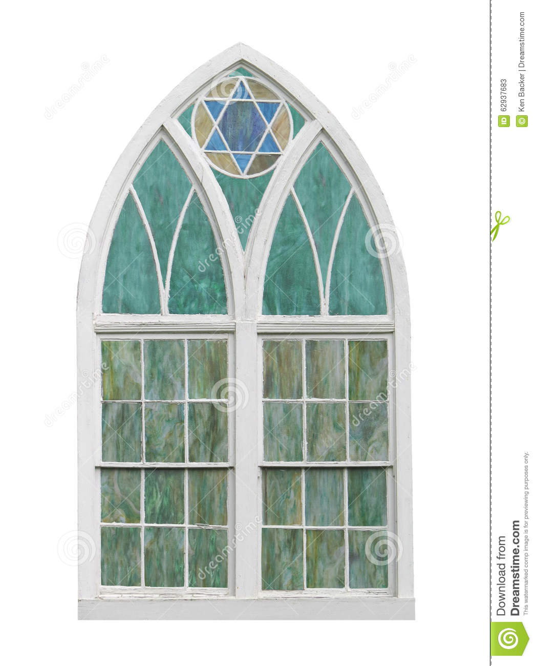 Old Arched Church Window Isolated Stock Image Image Of