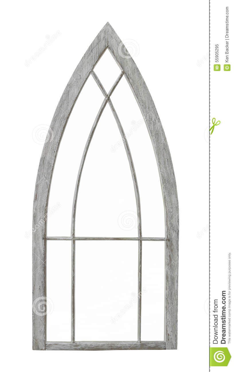 Old Arched Window Frame Isolated Stock Image Image Of