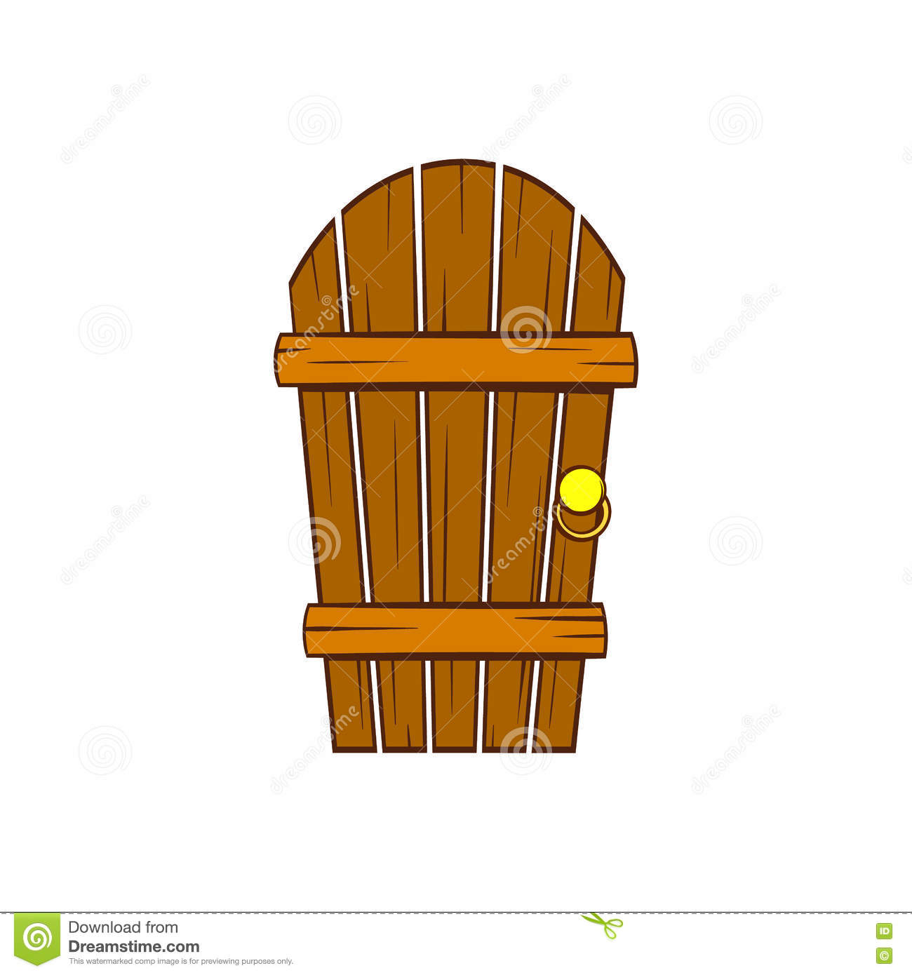 Old arched wooden door icon cartoon style Stock Photography  sc 1 st  Dreamstime.com & Cartoon Wooden Old Door Stock Vector - Image: 80269272 pezcame.com