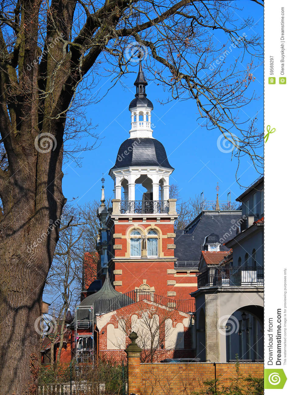 Old architecture at Wannsee in Berlin