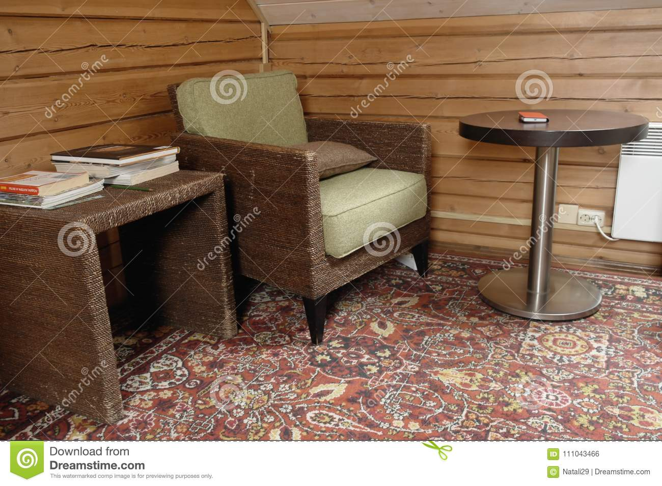 Ordinaire Download Old Armchair And Coffee Table Stock Photo   Image Of Chair,  Rustic: 111043466