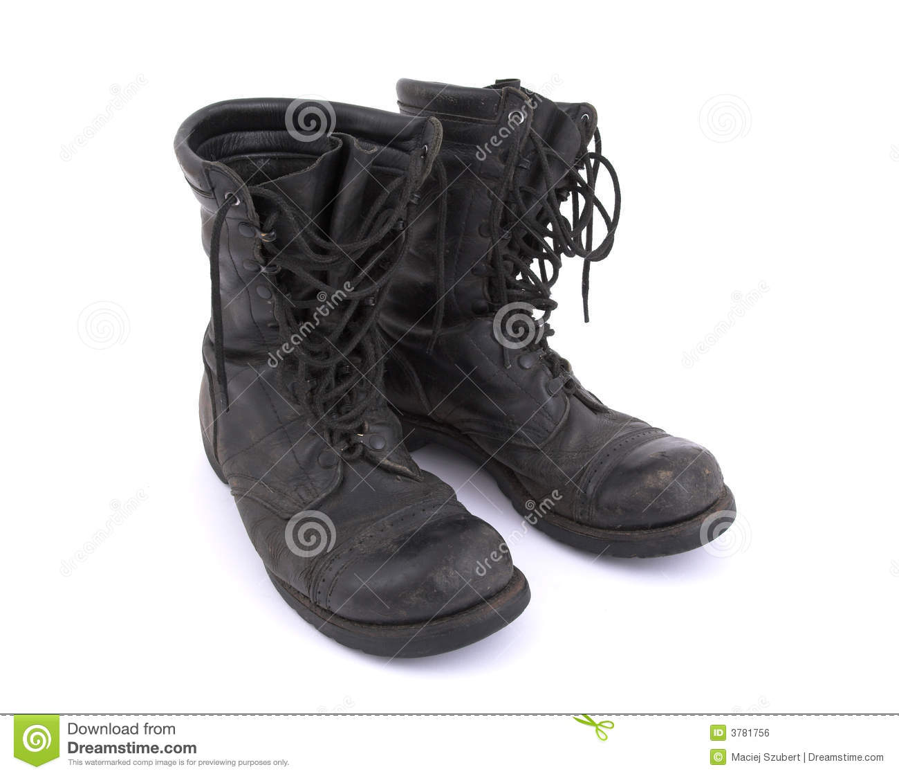 Old Army Boots - Corcoran Royalty Free Stock Image - Image ...