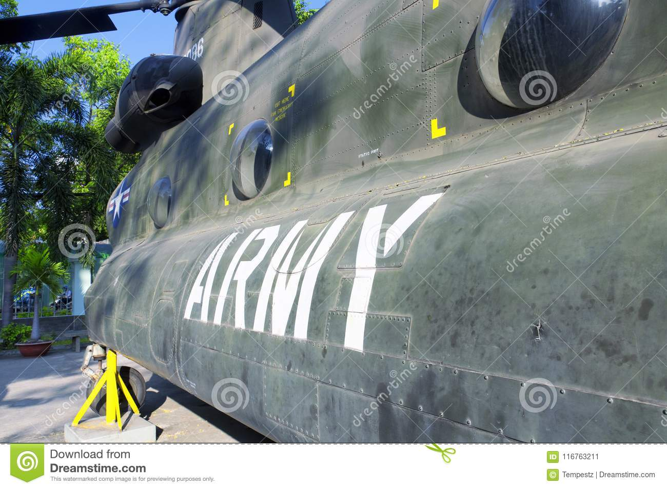 Old Army Helicopter Saigon Vietnam Editorial Photo - Image of