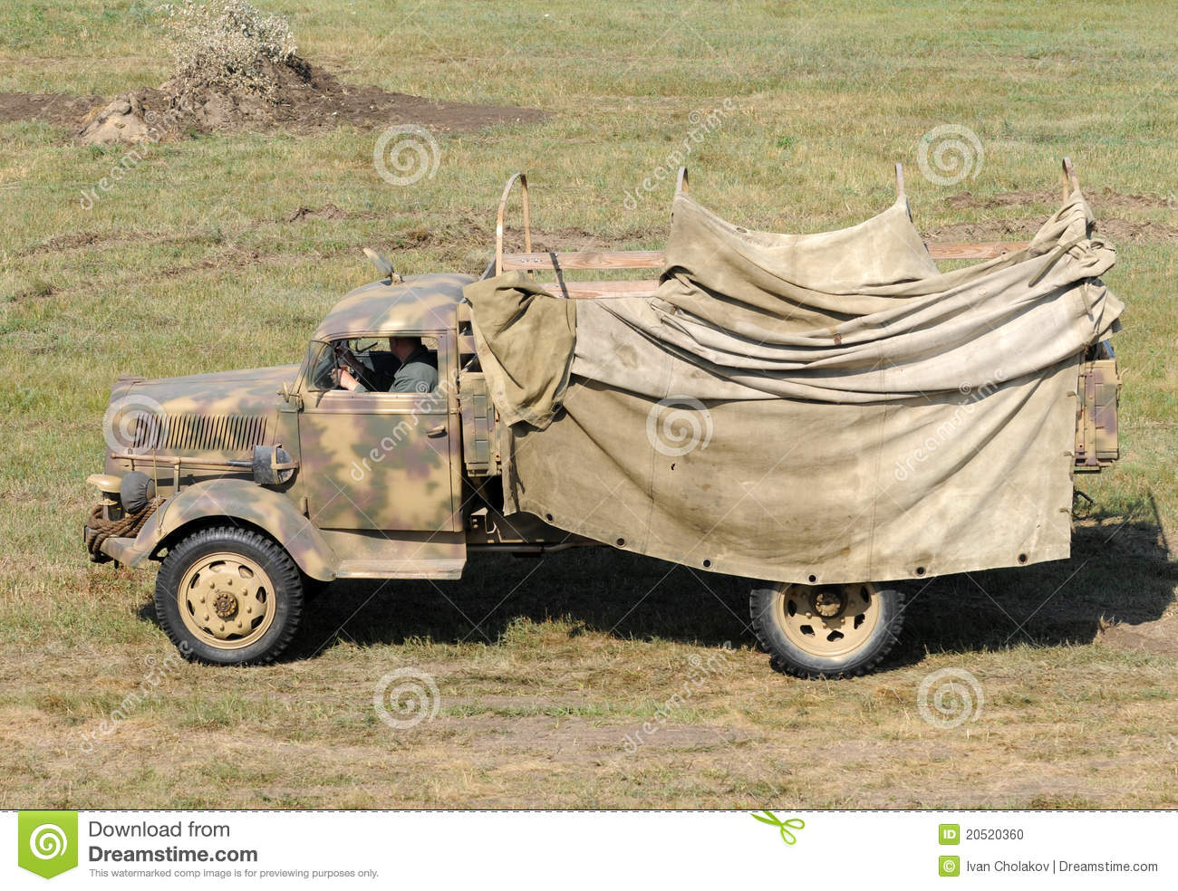 Old Army Truck Editorial Image - Image: 20520360