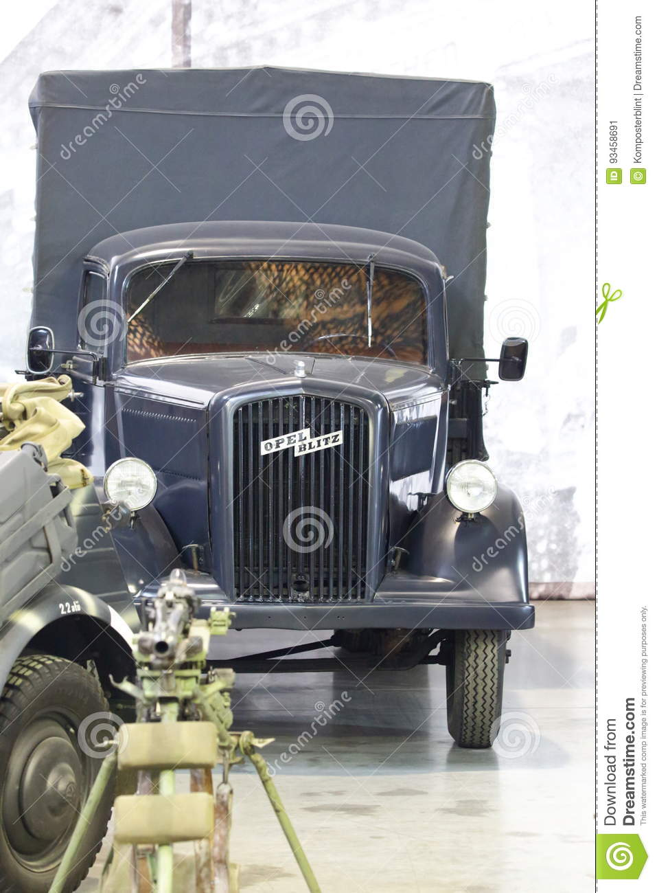 Old Army Truck Opel Blitz Editorial Photo Image Of Exhibit 93458691