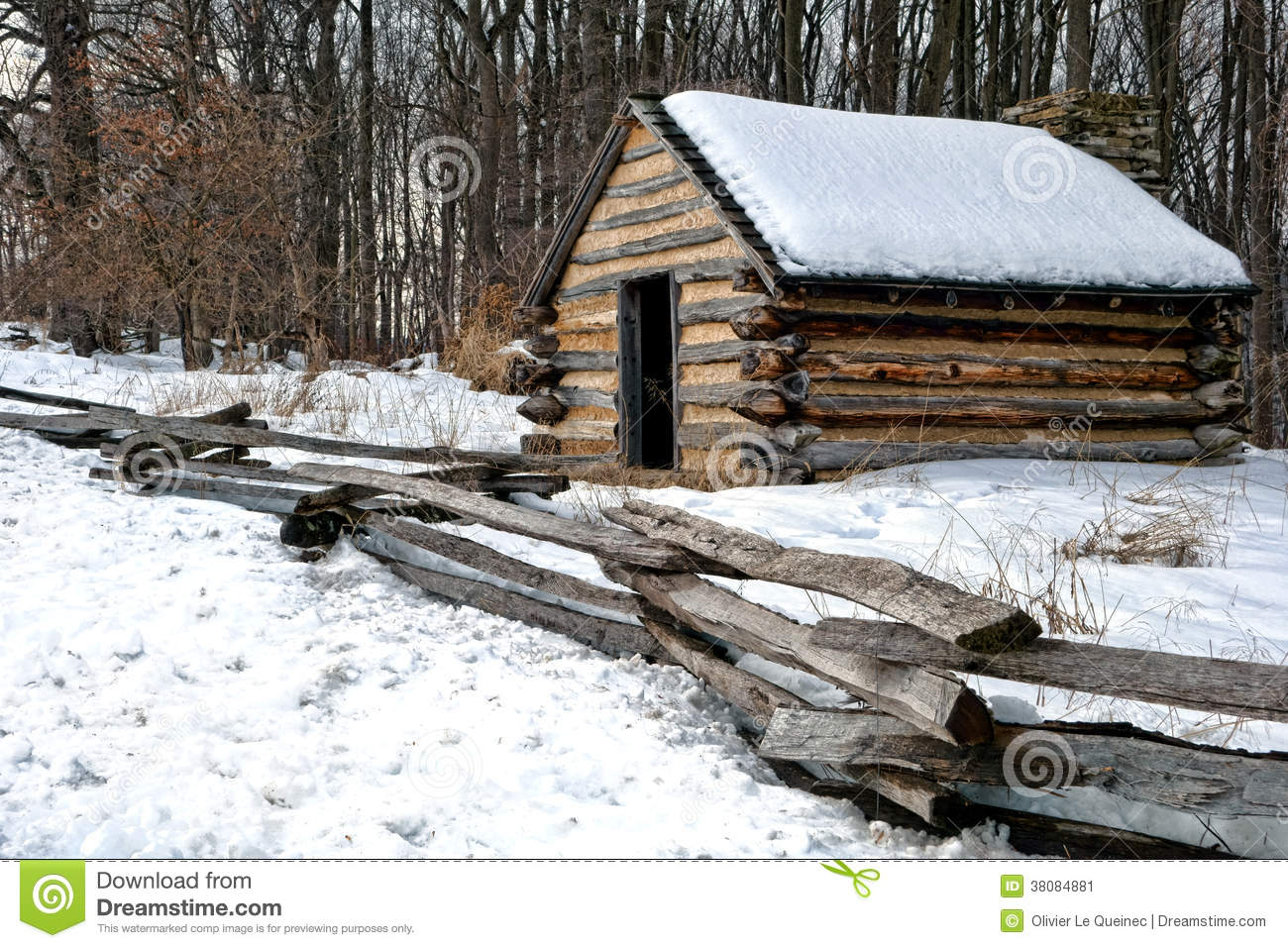 Old Army Wood Cabin at Valley Forge National Park