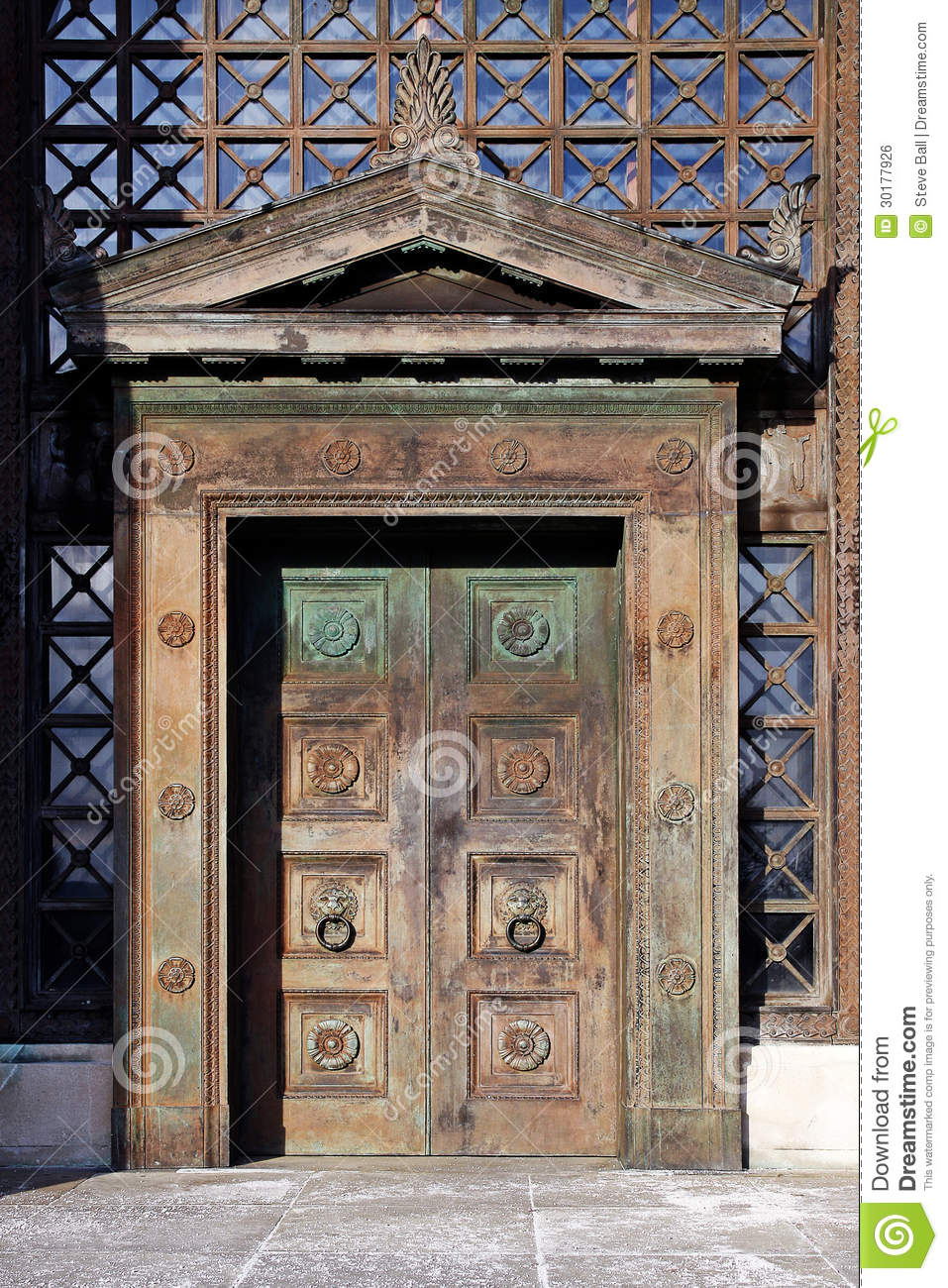 Art Deco Wooden Doors Royalty Free Stock Image Image