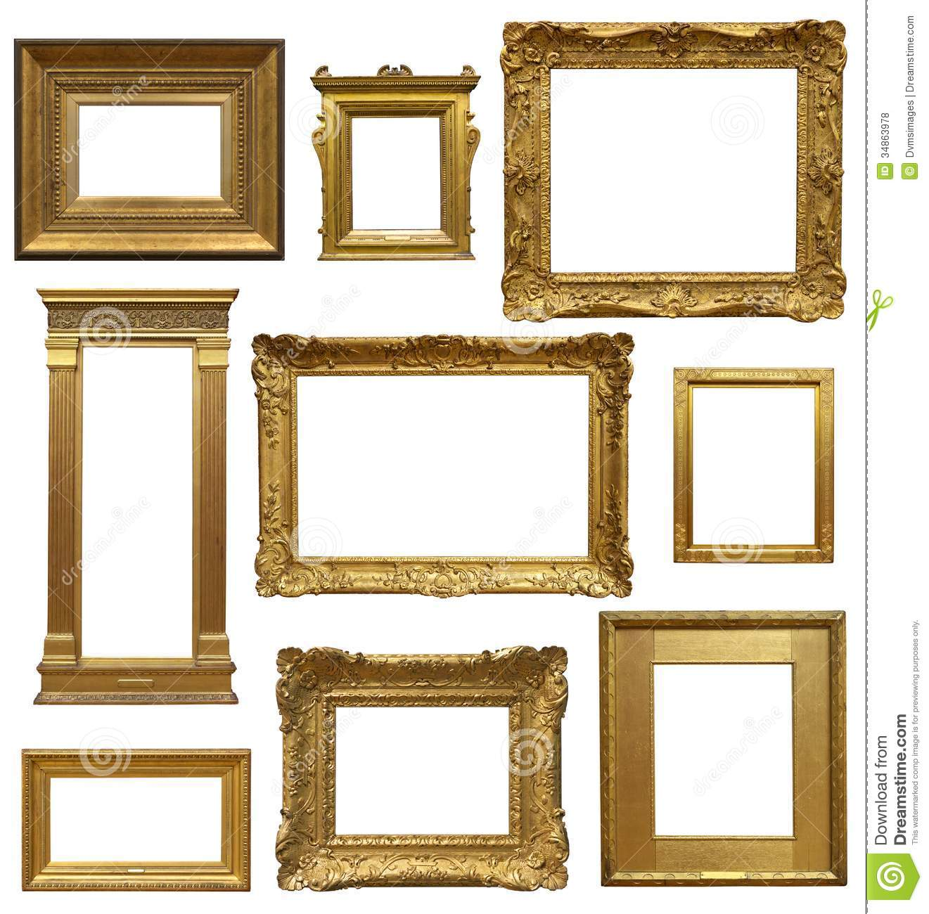 Old art gallery frames stock photo image of gallery for How to make vintage frames