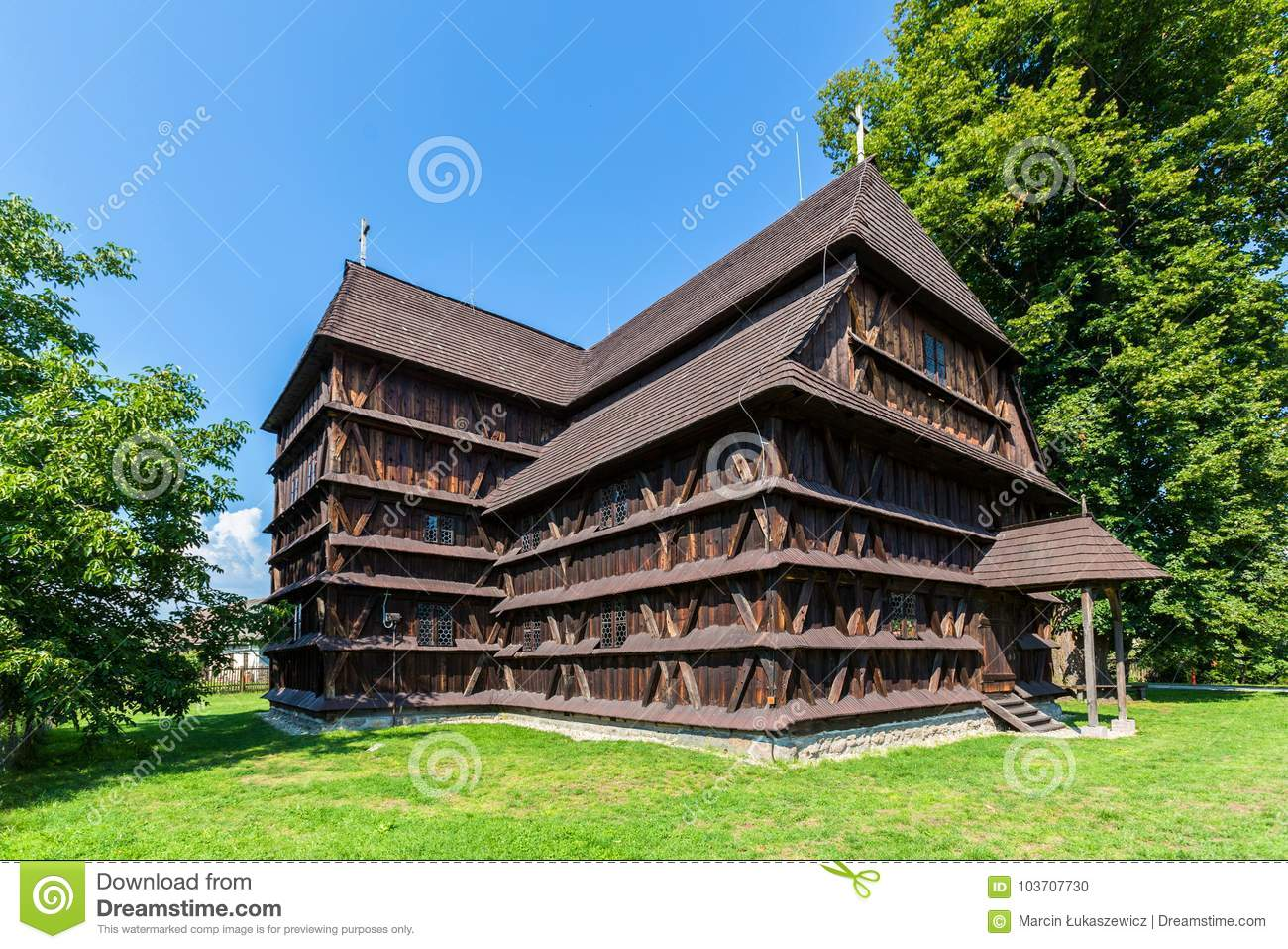 Old Articular Wooden Church In Hronsek Slovakia Editorial Image