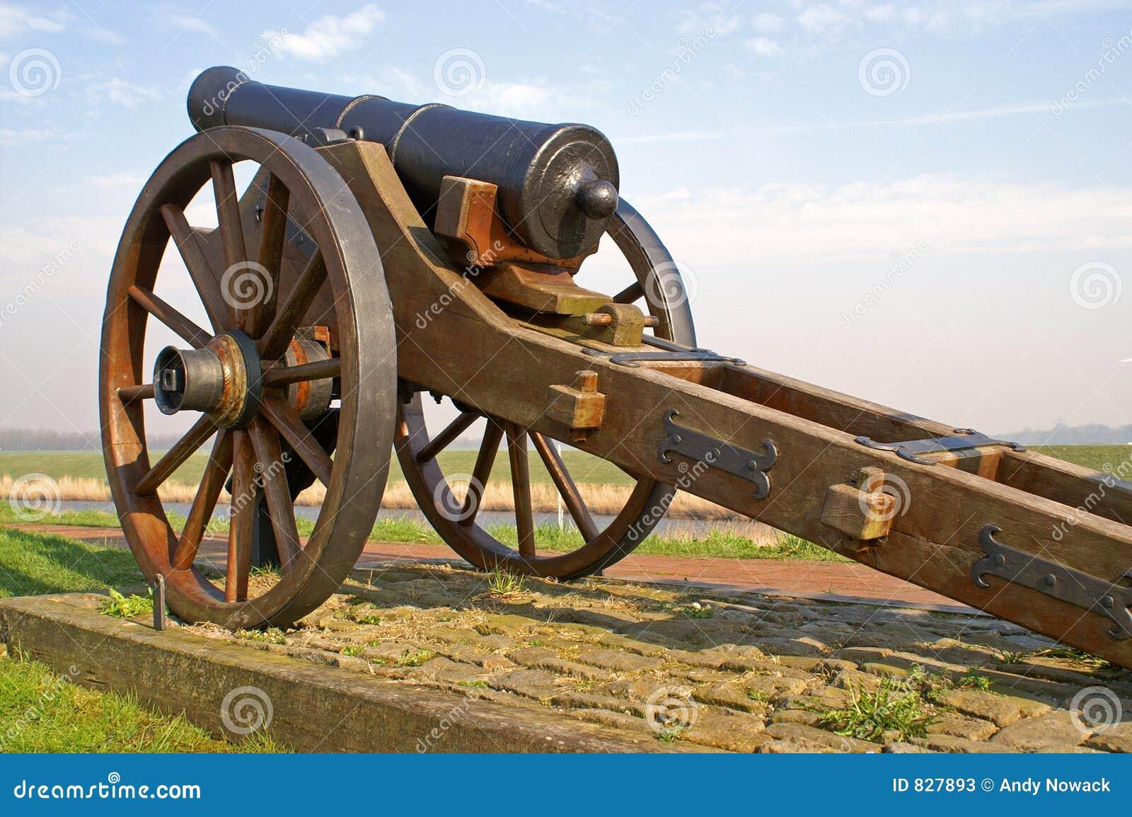 Old artillery canon