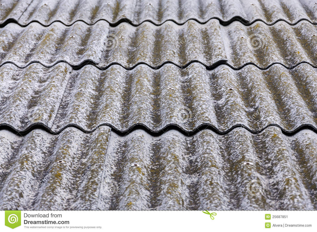 Old Fiber Asbestos Home Roof Stock Image Image Of Built