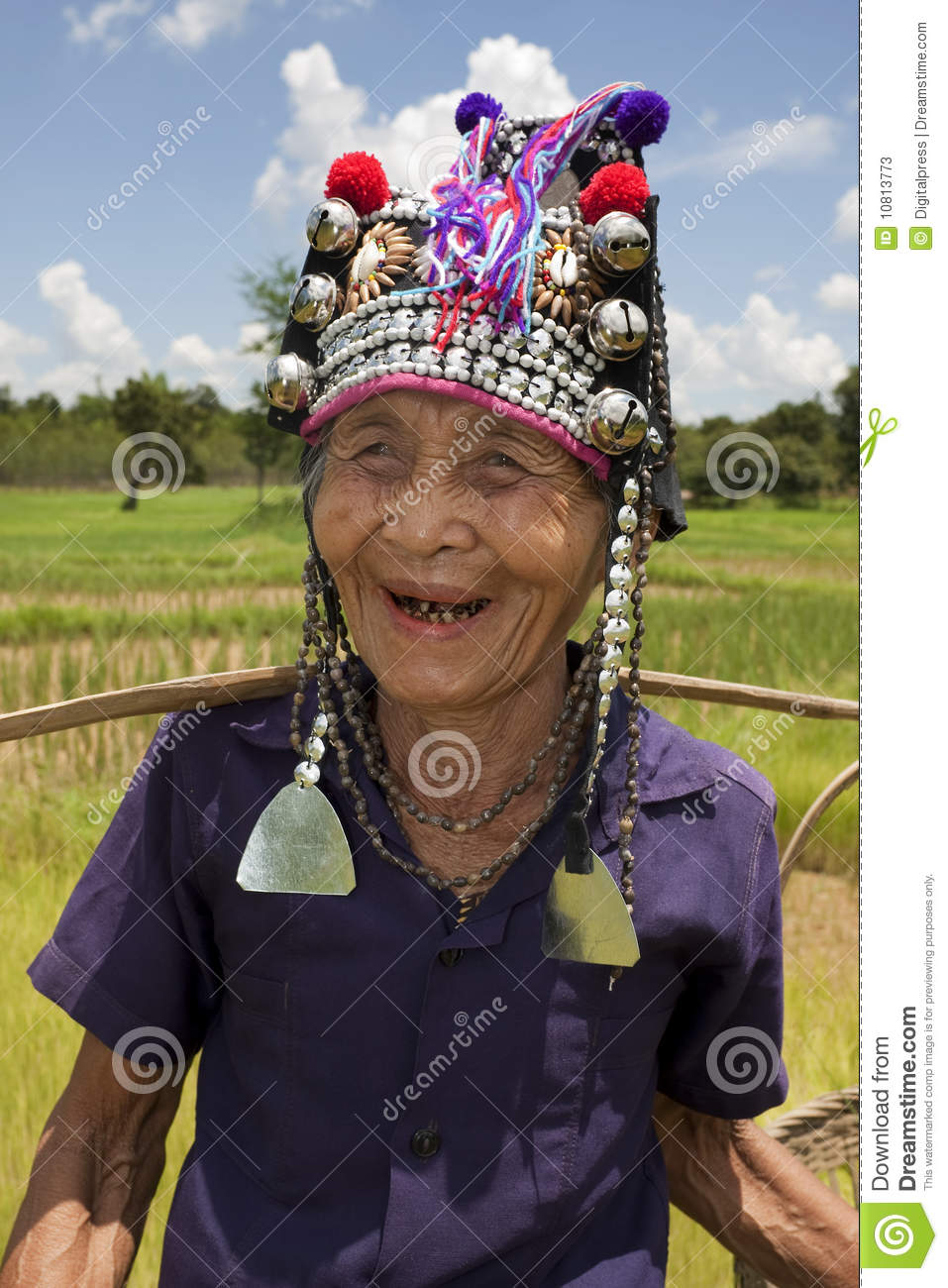 Old Asian Woman And 71