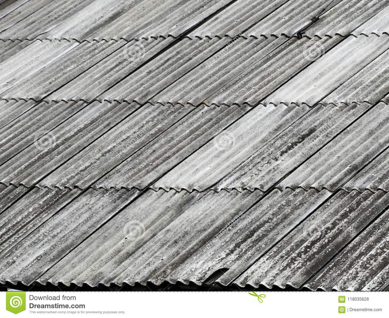 Dangerous Asbestos Roof Royalty Free Stock Photography