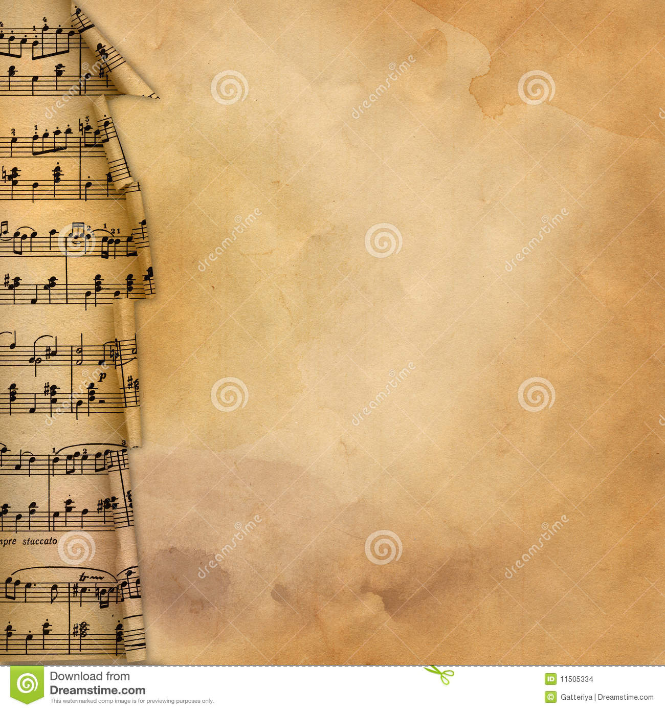 Old Background With Musical Border For Design Stock Images - Image ...