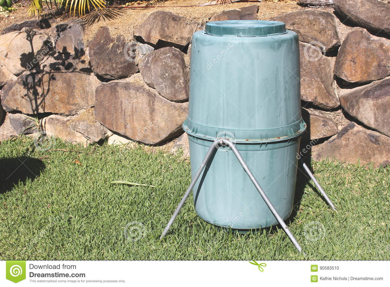 old backyard compost bin stock photo image 90583510
