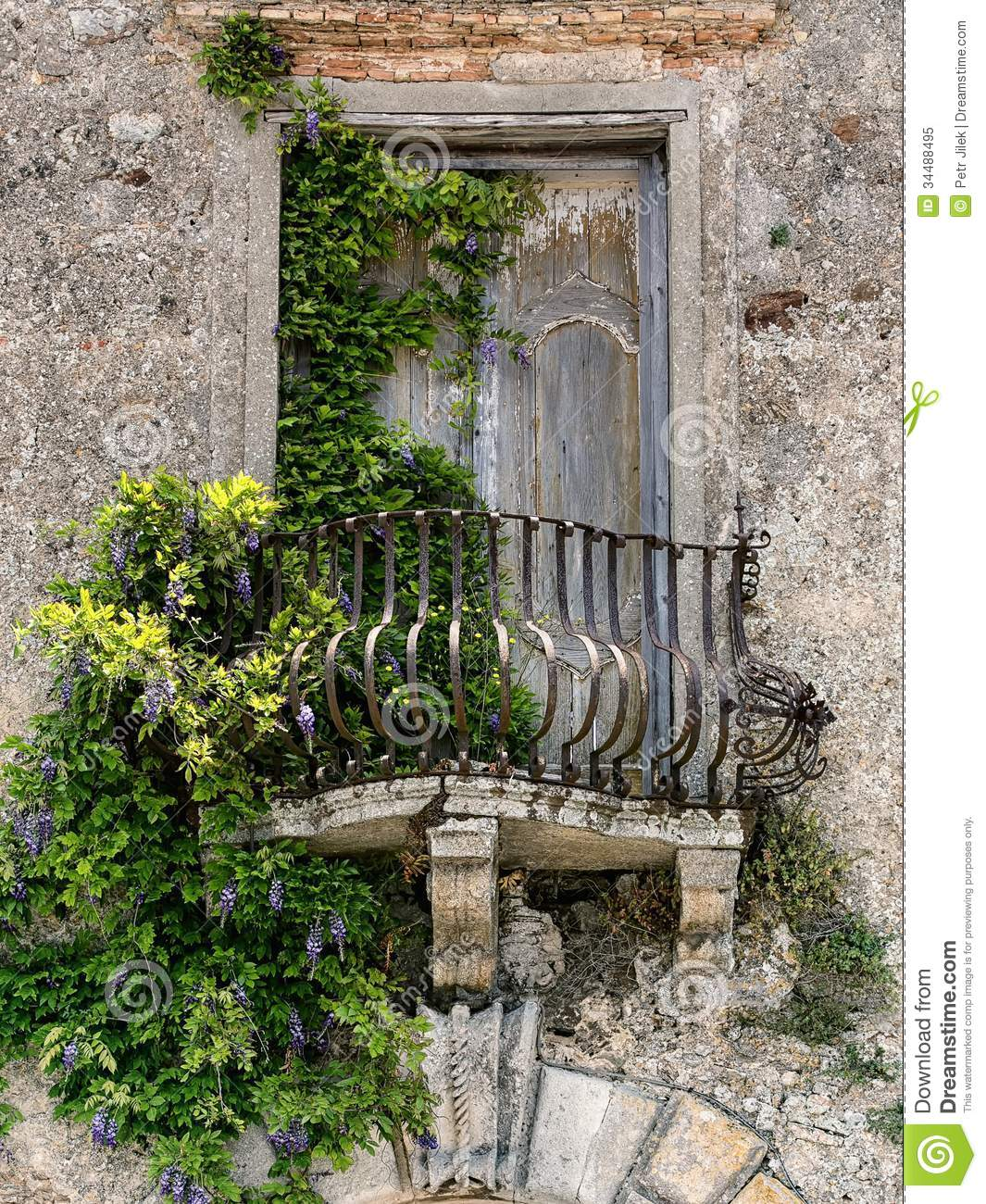 Old balcony in tuscany royalty free stock photo image for Balcony in italian
