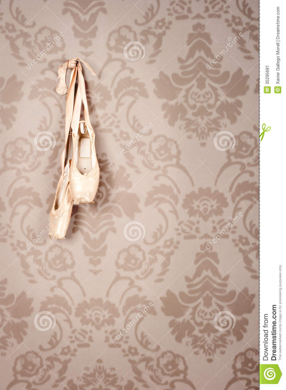 Old Ballet Shoes Hanging Stock Image Image Of Dance